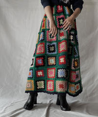 【RE;CIRCLE】 RE Granny Knit Long Skirt⑦/211014-027