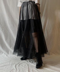 【USED】 See-through Long Skirt/ 210604-022