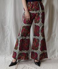 【RE;CIRCLE】 RE African Batik Flare Pants②/210428-013