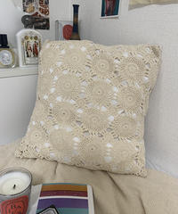 【RE;CIRCLE】RE Crochet Pillow Case/210614-006