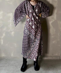 【USED】 Ethnic Pattern Dress  / 201120-013