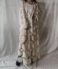 【RE;CIRCLE】  RE Crochet L/S Dress ①/210512-009