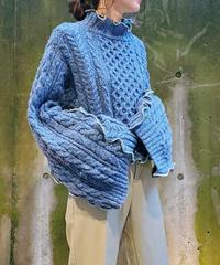 [Remake] Bell Sleeve Knit 8 (Blue)