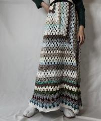 【RE;CIRCLE】 RE Granny Knit Long Skirt③/211014-023