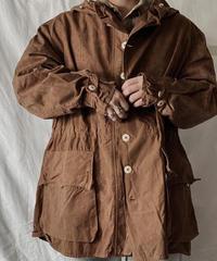 【USED】 Dyed Brown Swedish Snow Hoodie /210310-005