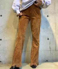 【Used】Pig leather Fringe  Pants  /200915-0027
