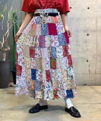 【Used】Patch work Long Skirt