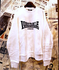 LONSDALE Flocky Print Sweat (Off White/Black)
