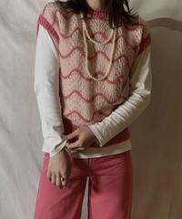 【USED】  N/S Crocket Knit Top①/210303-024