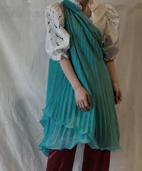 【USED】Poly No Sleeve Pleats Dress/210217-054