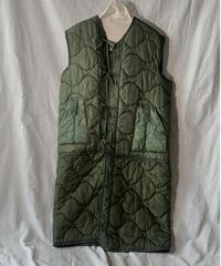 【受注生産】【RE;CIRCLE】 Remake  Liner Long Vest Coat With Ribbon