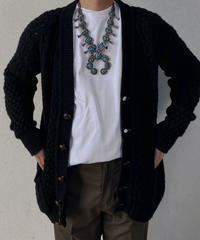 【MEND】Kyoto Kurozome Aran Knit Cardigan ① /210115-004