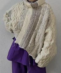 【RE;CIRCLE】 Patchwork Aran Knit ⑤ /210113-010