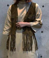 【Used】Suede Fringe Vest / 201001-012