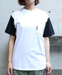 [ORIGINAL] POCKET S/S T-SHIRT (WHITE/BLACK)