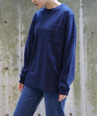 [Goodwear] Long sleeve T-shirt (Navy)