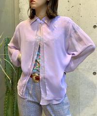 【Used】See-through Open Shirt  / 200812-003