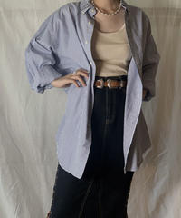【USED】 Ralph Lauren Stripe L/S Shirt④/210721-004