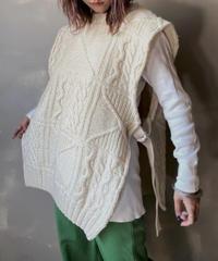 【RE;CIRCLE】Cable Knit Vest ① / 201112-016