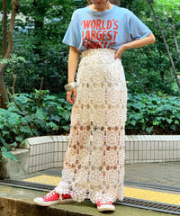 【RE;CIRCLE】Crochet Lace Long Skirt