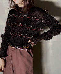 【RE;CIRCLE】L/S Mellow Rib Knit Lame / 201103-002