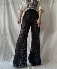 【RE;CIRCLE】 RE Lace Flare Pants/ 210611-018