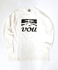 VOU/棒 × 森 Long sleeve T-shirt 3 (White)