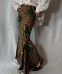 【USED】 African Batik Skirt③/210428-010