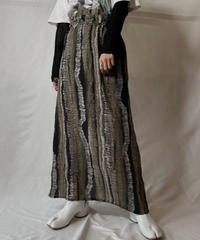 【USED】 Poly Long Skirt①/20210819-003