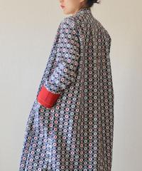 Retro flower pattern Long dress jacket (no.188)