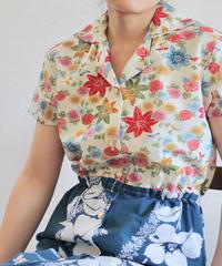 Flower pattern Kimono Nostalgic one-piece dress (no.160)