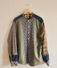 Men's Kimono patchwork long sleeve shirt (no.231)