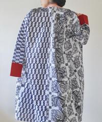 Black&White Yukata Long dress jacket (no.198)