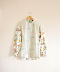 Flower & dots Kimono spring oversized shirt (no.265)