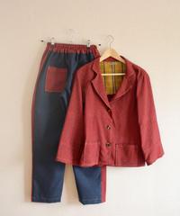 Dark Red Kimono Jacket & Jodhpurs (no.227)