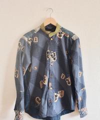 Shogi pattern x Kimono Casual Shirt (no.241)