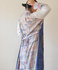 Kimono&Yukata combi Long shirt dress (no.186)