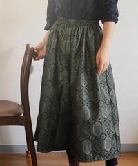 Gorgeous dark green Kimono Wide pants (no.250)