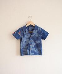 KIDS blue yukata&kimono summer shirt (no.299)
