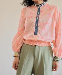 Pink Kimono balloon sleeves blouse (no.293)
