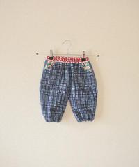 KIDS  blue yukata POP pockets easy pants (no.206)