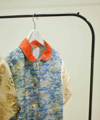 Japanese red collar & Kimono coat dress (no.182)