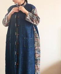Blue x abstract Kimono long dress jacket (no.219)