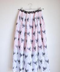 Salmon Pink Kimono double layered skirt (no.135)