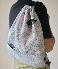 Black x White Kimono knapsack bag (no.052)