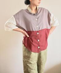 Edo Komon Japanese combination blouse (no.169)