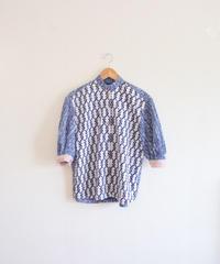 Baloon sleeves summer cotton shirt (no.304)