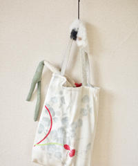 Fur x Silk Kimono winter tote bag ① (no.110)