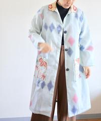 Gold x Light Blue Kimono Spring Coat (no.275)