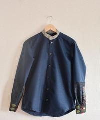 Dark Blue Kimono casual Shirt ② (no.240)